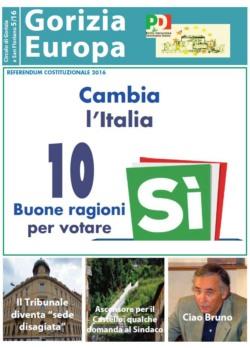 Gorizia Europa n.5/2016: Speciale Referendum e un ricordo di Bruno Crocetti