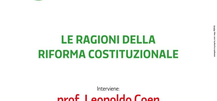A Ronchi il prof. Leopoldo Coen per il SI alle riforme