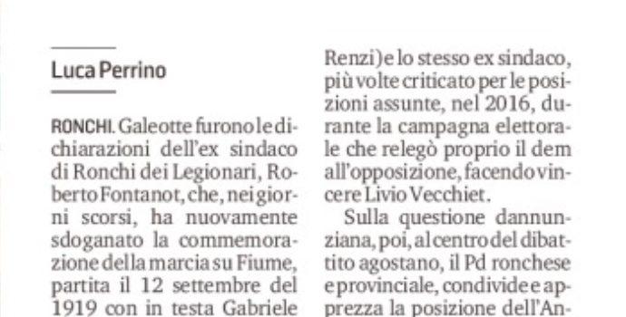Moretti e il Pd locale: «Fontanot svogliato, dovrebbe dimettersi»