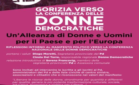VERSO LA CONFERENZA NAZIONALE DELLE DONNE DEMOCRATICHE