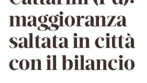 """Monfalcone – Cattarini """"Maggioranza saltata in città con il bilancio"""""""