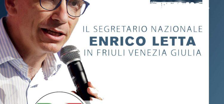 Il 23 settembre Enrico Letta in Friuli Venezia Giulia